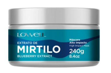 Lowell Extrato de Mirtilo - Máscara 240g