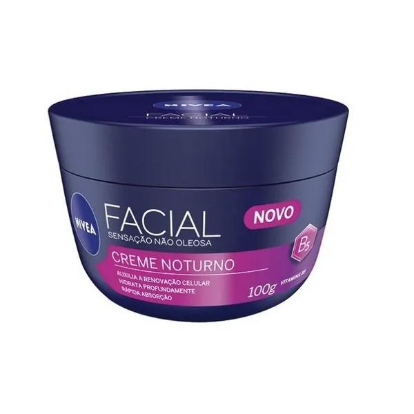 Creme Facial Nivea Cuidado Noturno Sensação Não Oleosa 100g