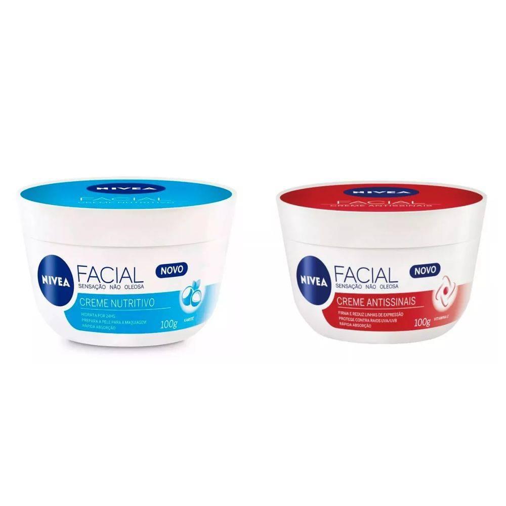 Creme Facial Nivea - Nutritivo E Antissinais Kit C/2 100g