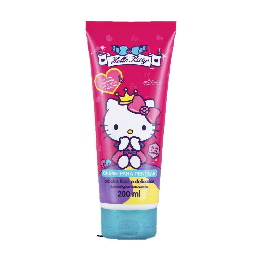 Creme Para Pentear Cabelos Lisos E Delicados Hello Kitty 200ml