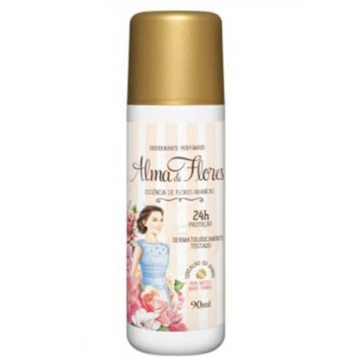 Desodorante Spray Alma De Flores Essencia De Flores Brancas 90ml