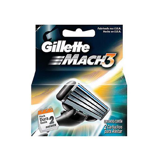 Gillette Mach3 Carga Regular C/2