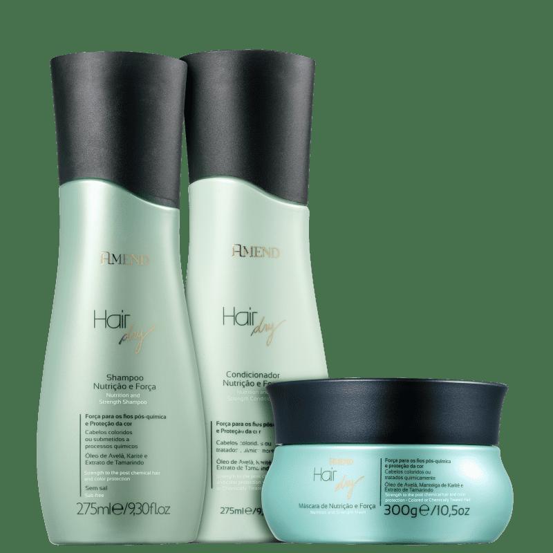 Kit Amend Hair Dry Nutrição e Força Tratamento (3 Produtos)