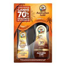 Kit Australian Gold Instant Bronzer - Protetor Solar Corporal 237ml + Bronzeador 125ml