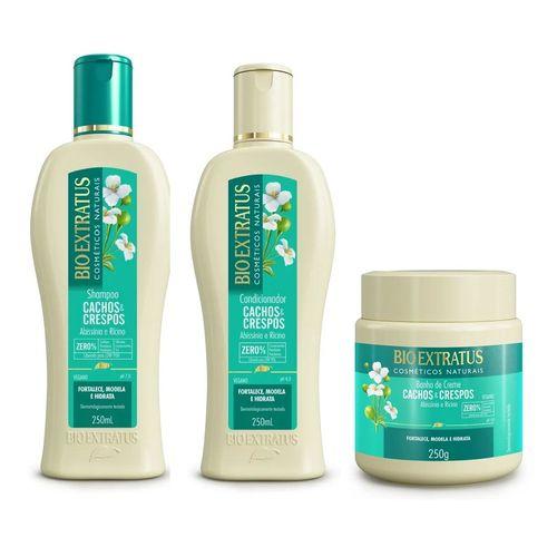 Bio Extratus Cachos E Crespos Shampoo+Condicionador+Banho de Creme 250ml