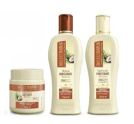 Kit Bio Extratus Óleo de Coco (Shampoo+Condicionador+Banho de Creme 250g)