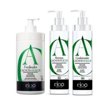 Kit Eico Cachos Mágicos - Shampoo e Condicionador + Finalizador