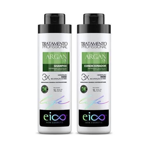 Kit Eico Life - Argan Oil Shampoo 1000ml+Condicionador 1000ml