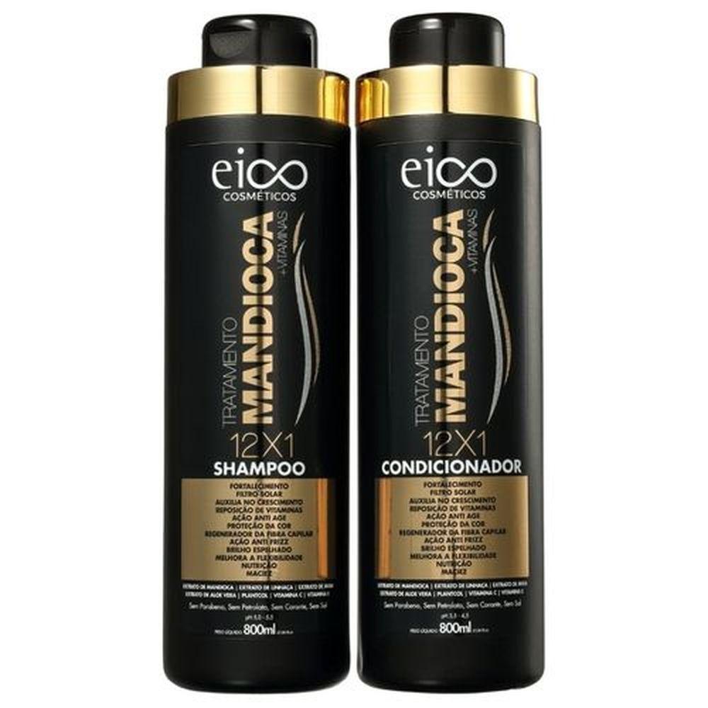 Kit Eico - Mandioca Shampoo 800ml+Condicionador 800ml