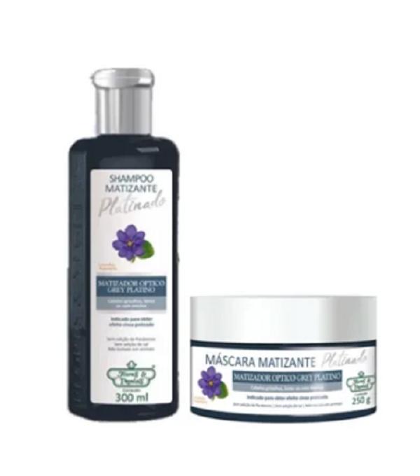 Kit Flores e Vegetais - Shampoo + Máscara Platinado