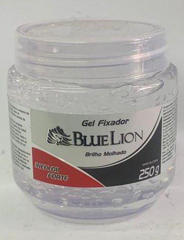 KIT- Gel Fixador Blue Lion Incolor Forte Brilho Molhado 250g - 12 UNIDADES