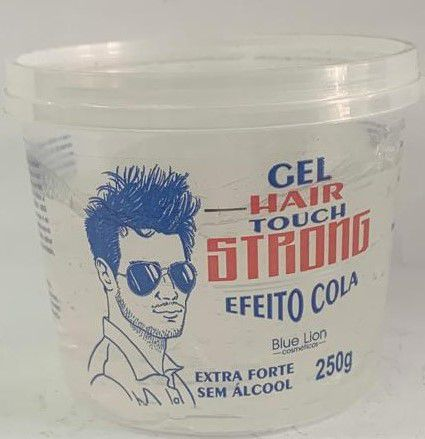 KIT - Gel Hair Touch Strong Efeito Cola 250g - 15 UNIDADES