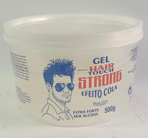 KIT - Gel Hair Touch Strong Efeito Cola 500g - 12 UNIDADES