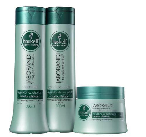 Kit Haskell Jaborandi - Shampoo e Condicionador + Máscara
