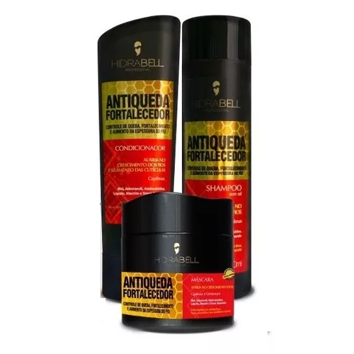Hidrabell Antiqueda Fortalecedora Shampoo+Condicionador+Mascara