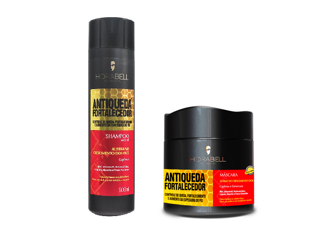 Kit Hidrabell Antiqueda Fortalecedora shampoo + mascara
