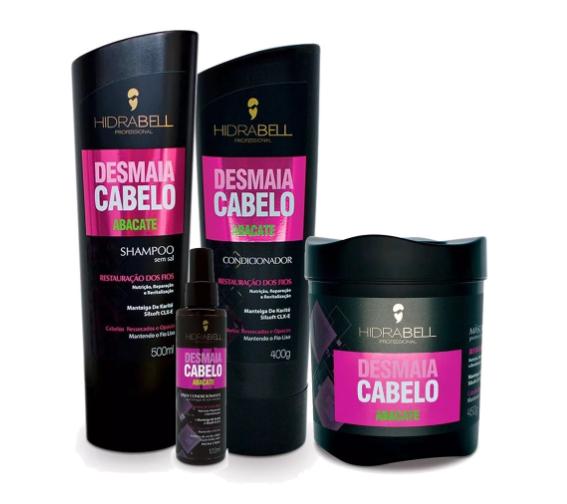 Kit Hidrabell Liso Abacate - Shampoo e Condicionador + Máscara + Spray
