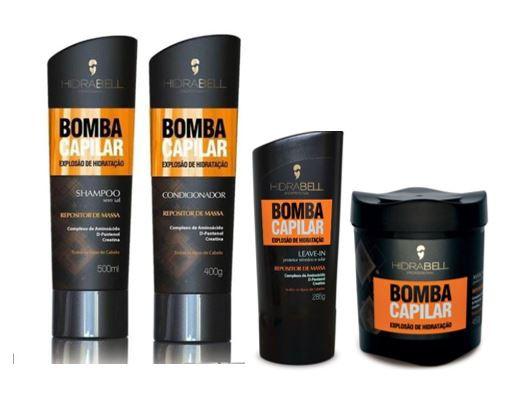 Hidrabell Bomba Capilar Shampoo+Condicionador+Máscara+Leave-in