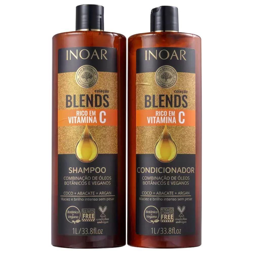 Kit Inoar Blends Vitamina C Shampoo e Condicionador - 1L