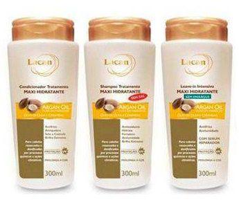 Kit Lacan Maxi Hidratante Argan 3 Produtos