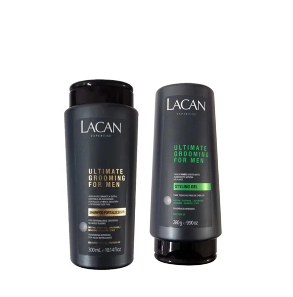 Kit Lacan Ultimate Grooming For Men Shampoo e Styling Gel