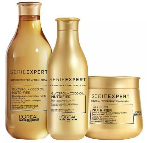 Kit Loréal Professionnel Shampoo + Condicionador + Máscara Nutrifier