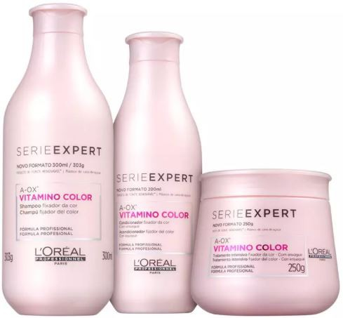 Kit Loréal Professionnel Shampoo + Condicionador + Máscara Vitamino Color Resveratrol
