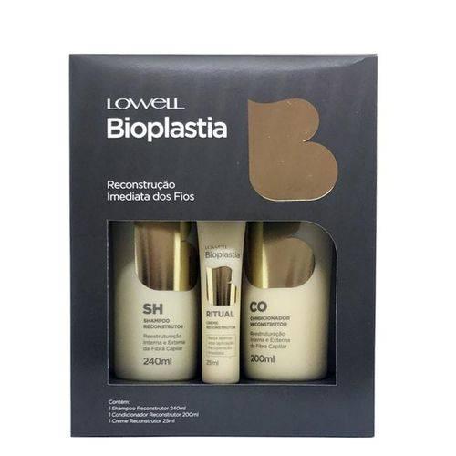 Lowell Bioplastia Capilar Home Care Shampoo+Condicionador 240ml+ Creme Reconstrutor 25ml