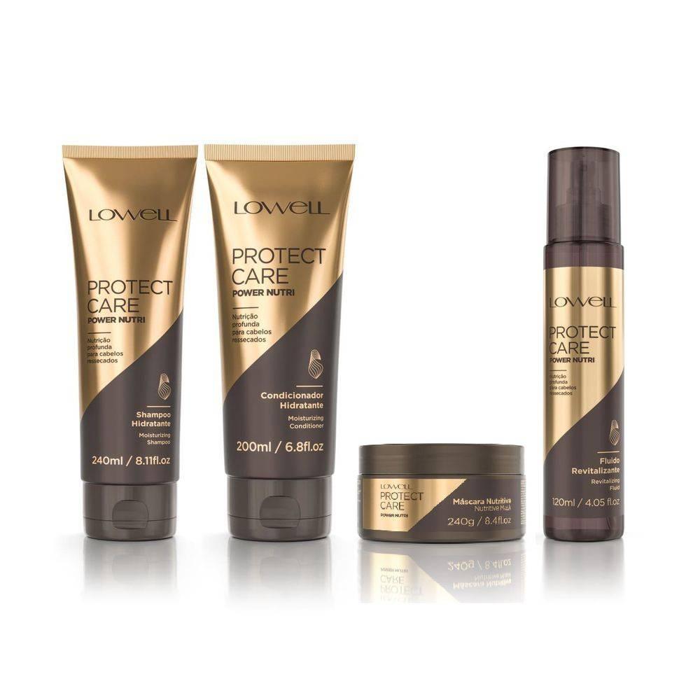 kit Lowell Protect Care Power Nutri - Shampoo+ Condicionador + Mascara E Fluido