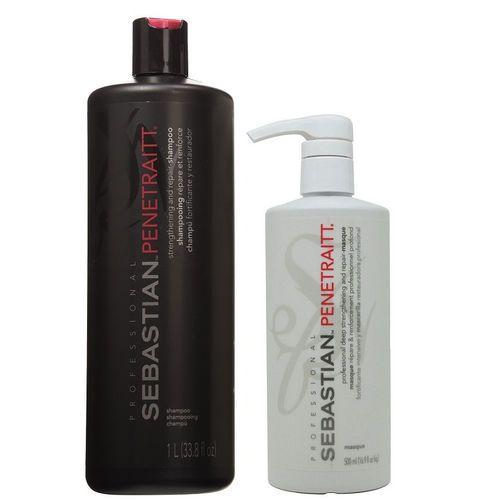 Kit Sebastian Penetraitt Shampoo 1 Litro E Máscara 500