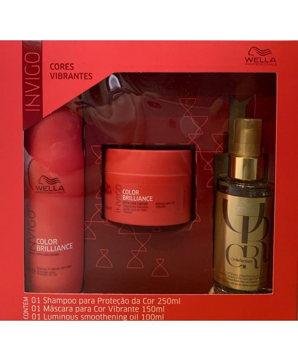 Kit Shampoo 250ml e Máscara 150g Wella Brilliance Óleo Capilar Wella Oil Reflections 100ml