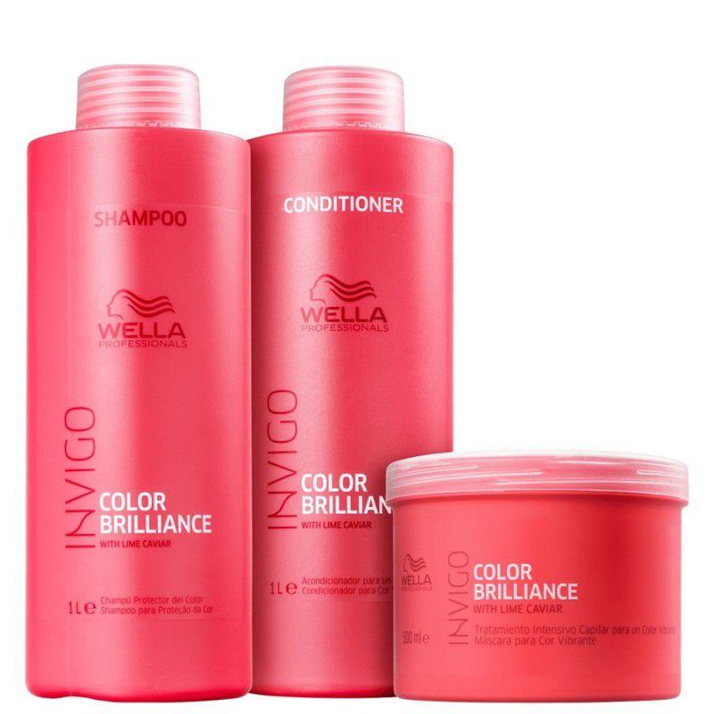 Kit Wella Professionals Invigo Color Brilliance (3 Produtos)