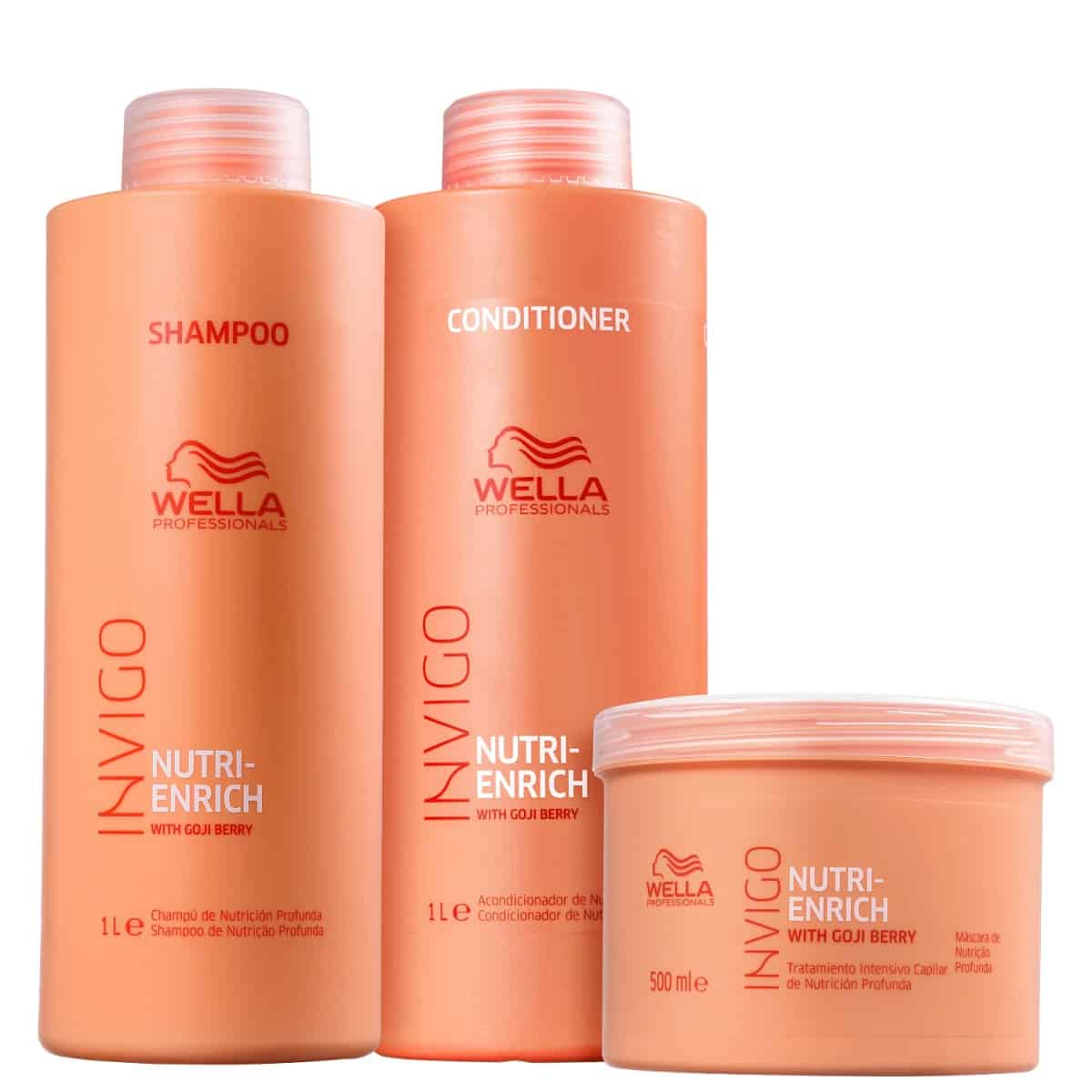 Kit Wella Professionals Invigo Nutri-Enrich Salon Trio (3 Produtos)