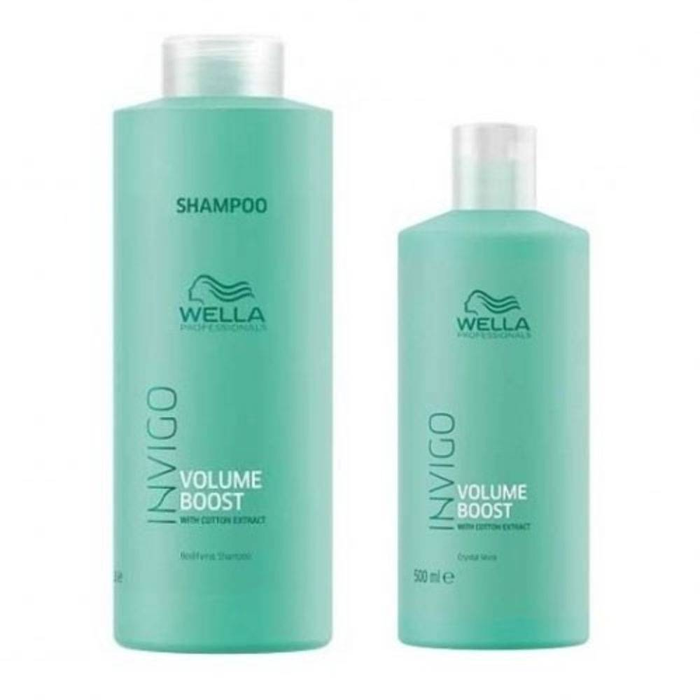 Kit Wella Professionals Invigo Volume Boost Shampoo 1000ml + Condicionador 500ml