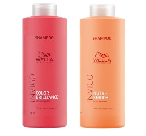 Kit Wella Shamppo Enrich + Shampoo Brilliance de 1 Litro