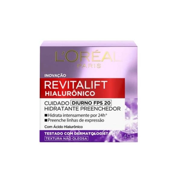 L'Oréal Paris Revitalift Hialurônico FPS 20 Tratamento Diurno - Creme Anti-Idade 49g