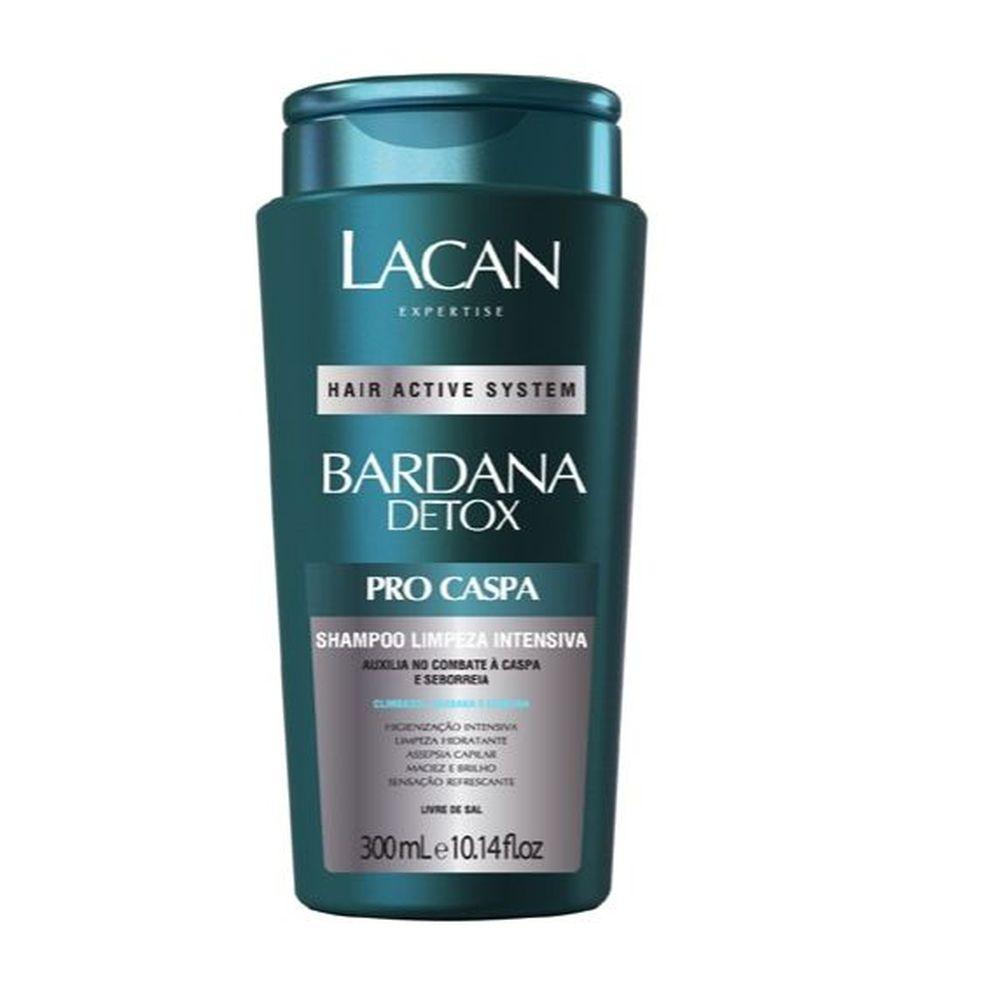 Lacan Bardana Detox Shampoo Limpeza Intensiva Pro Caspa 300ml