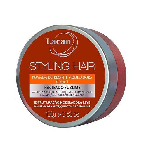 Lacan Styling Hair - Pomada Defrizante Modeladora 100g 6 Unidades