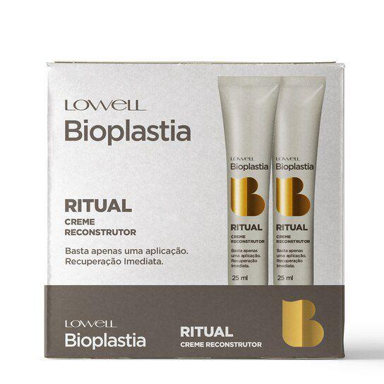 Lowell Bioplastia Capilar Display Ritual Creme Reconstrutor Home Care 12x25ml