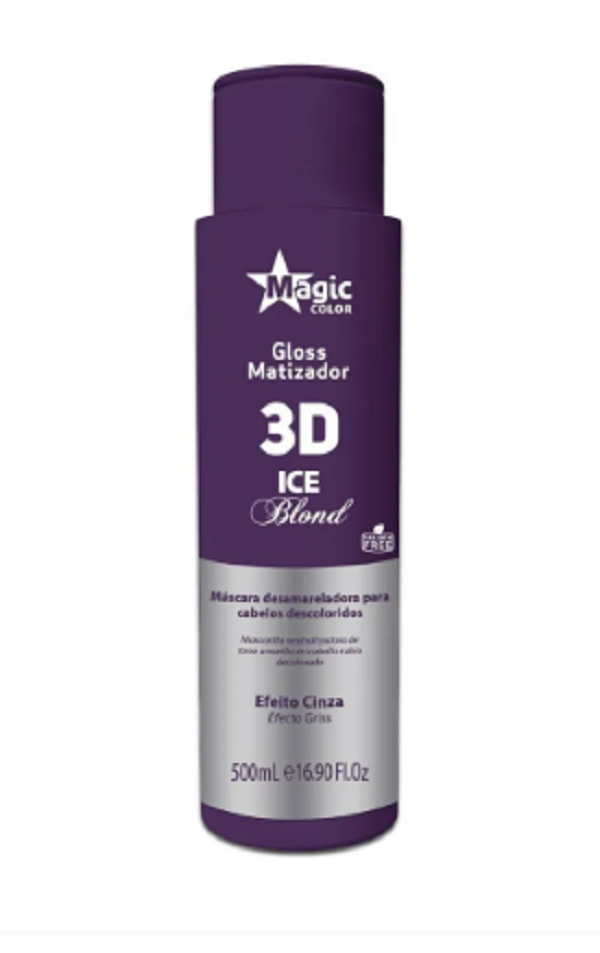 Magic Color - Gloss 3d Matizador Ice Blond Efeito Cinza 500ml