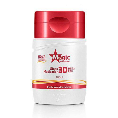 Magic Color - Gloss 3d Matizador Mega Red Efeito Vermelho Intenso 100ml