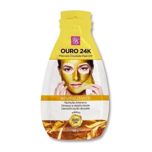 Máscara Dourada Peel-Off Ouro 24K 10g - KISS Com 3 Unidades