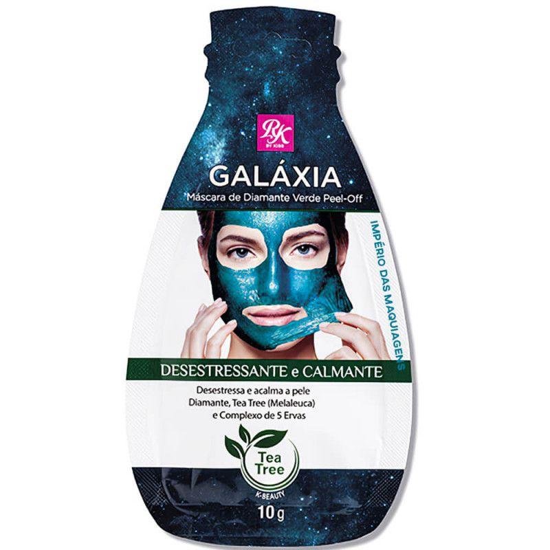 Máscara Facial Diamante Verde Galaxia 10g - KISS Com 3 Unidades