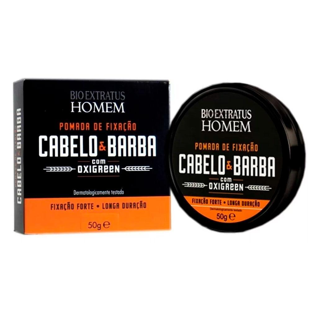Pomada Fixadora Cabelo E Barba Homem Bio Extratus 50g