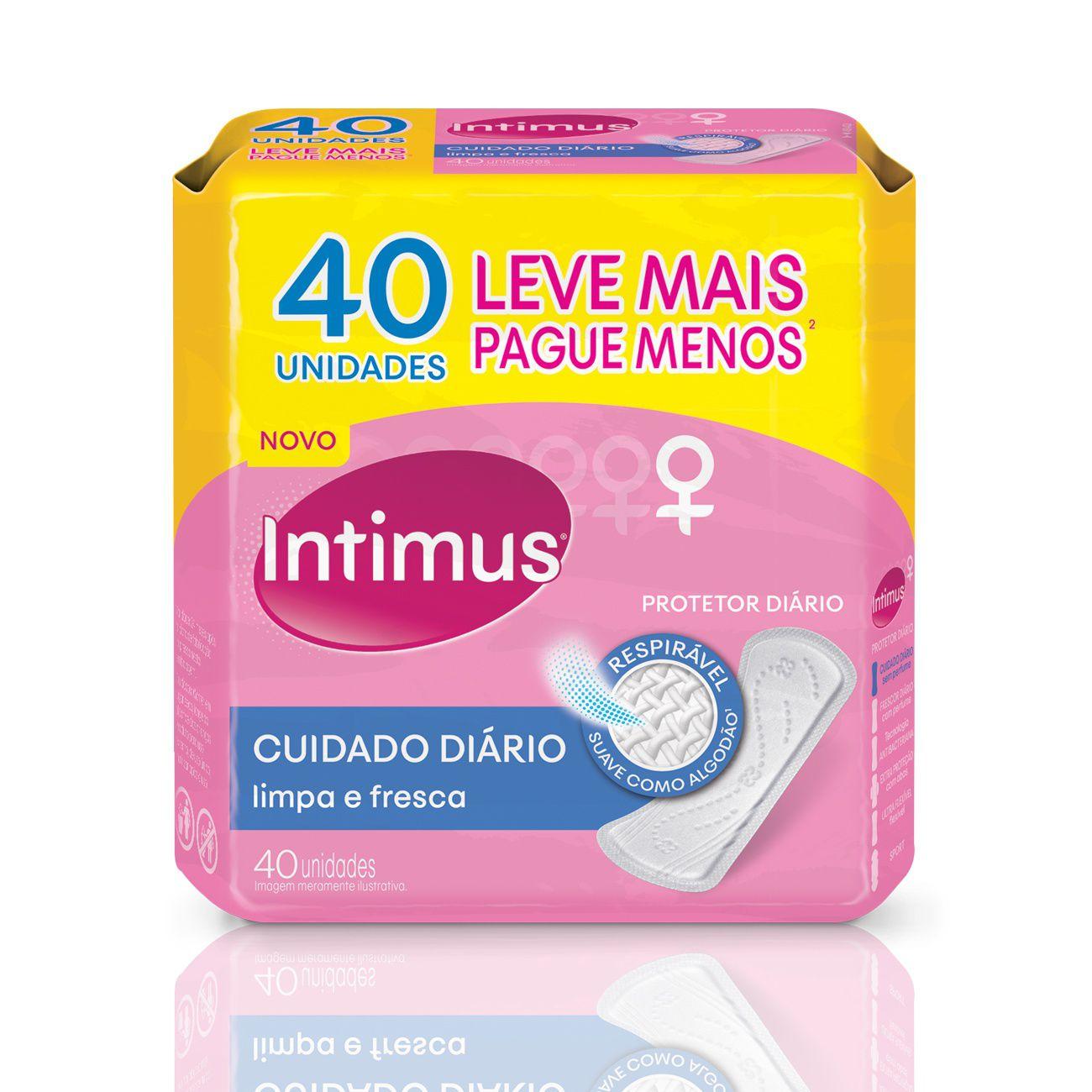 Protetor Diário Intimus Ultra Flexivel - 40 unidades