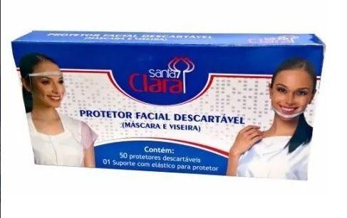 Protetor Facial Descartável 50Unid. Ref. 4259 -Santa Clara