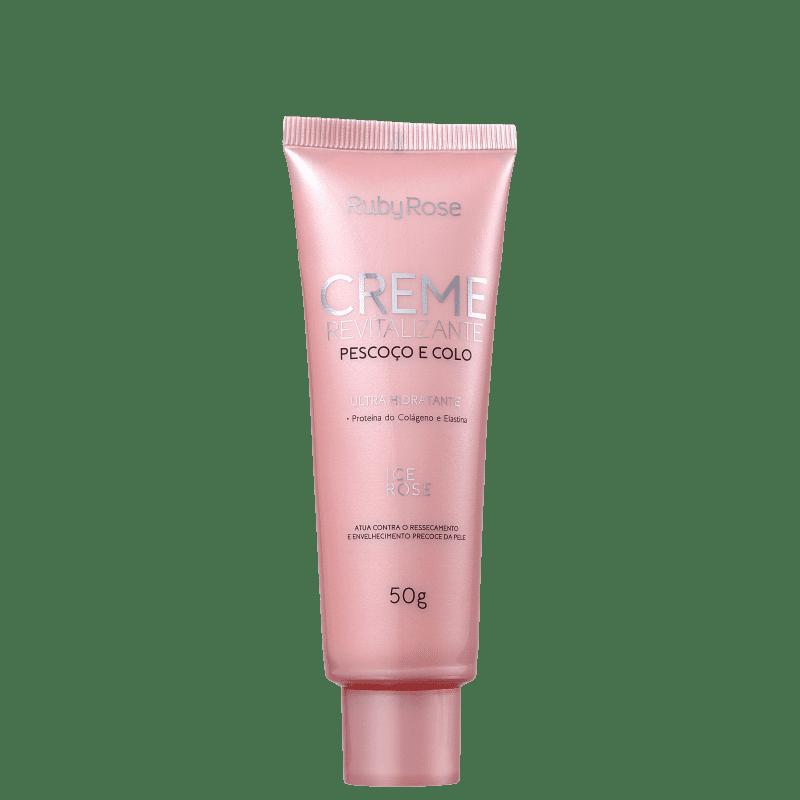 Ruby Rose Revitalizante Ice Rose - Creme Hidratante para Pescoço e Colo 50g