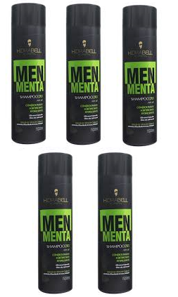 Shampoo 2x1 Men Menta 500ml - Hidrabell - 5 Unidades