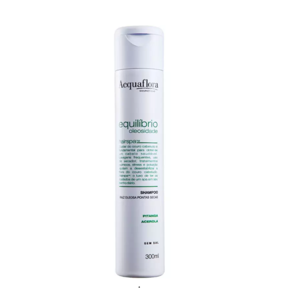 Shampoo Acquaflora Equilíbrio Oleosidade - Raiz Oleosa e Pontas Secas 300ml