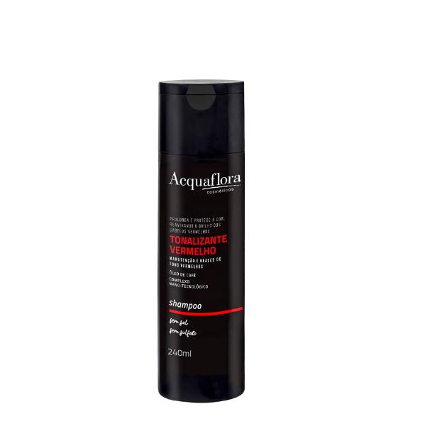 Shampoo Acquaflora Tonalizante Vermelho - 240ml